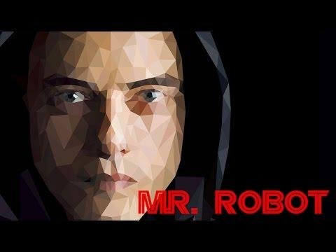 Polygon Portre Tasarımı - Mr.Robot - Adobe Illustrator Cs6 Dersi