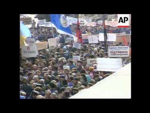Ukraine - Workers & Nationalists Anti-Gov Demo