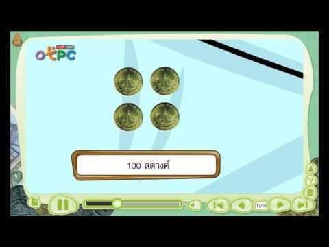 การเขียนจำนวนเงินโดยใช้จุดและการอ่าน - สื่อการเรียนการสอน คณิตศาสตร์ ป.3