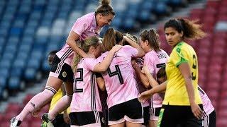 HIGHLIGHTS   Scotland 3-2 Jamaica   SWNT   Scotland Women