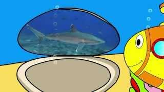 """Развивающий мультфильм про подводную лодку. Знакомимся с обитателями моря (Часть 1). """"Умный Ребенок"""""""