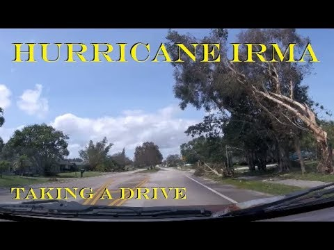 ⛈🌪🌧 Hurricane Irma - Driving around town looking at the damage - Mon 09/11/2017 in the afternoon