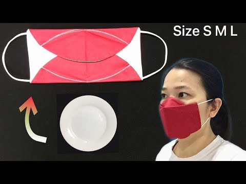 NEW version - NO FOG ON GLASSES - DIY Simple fabric 3D face mask sewing tutorial, is very fast &easy