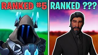 Ranking Every Max Tier (TIER 100) Battlepass Skin In Fortnite (SEASON 7 UPDATED)