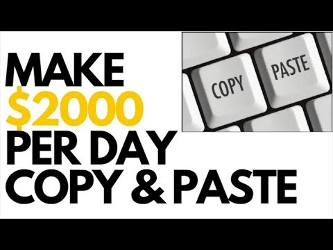 Earn $100 - $2000 A Day With Copy & Paste Jobs Online | Make Money Online Without Investment