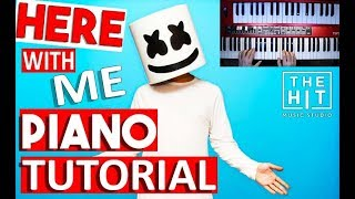 Marshmello - Here With Me Feat. CHVRCHES - Piano Tutorial (Part 1)