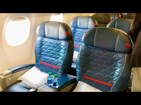 Delta Air Lines First Class E75 from Seattle to Calgary