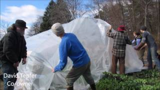 Skinning a Greenhouse at Simple Gifts Farm in North Amherst, MA