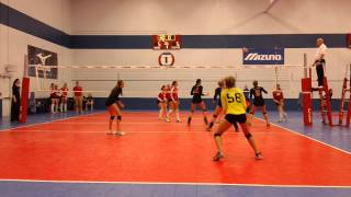 Marisa Aiello #12(red/black) Middle Blocker GLC National Junior Classic Volleyball