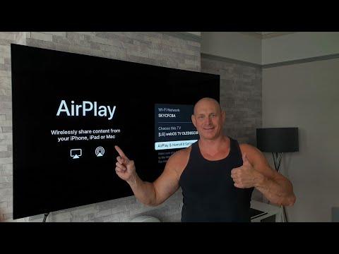 Apple AirPlay setup+demo on 2019 LG C9 OLED