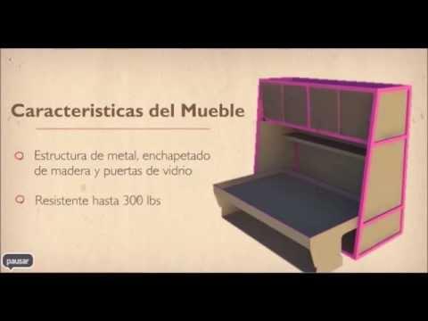 Mueble multifuncional para dormitorios de espacios for Muebles para espacios reducidos