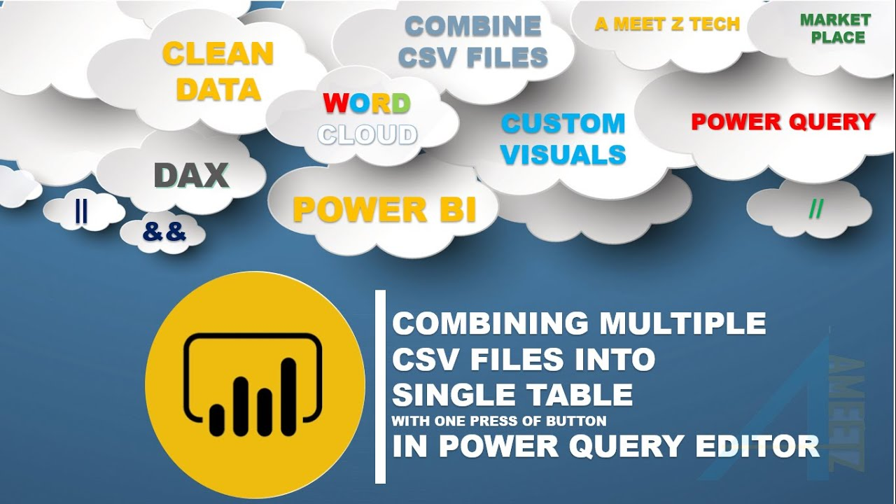 Combining Files in a Folder to a Single Table in Power Query Editor ( Power BI / Excel)