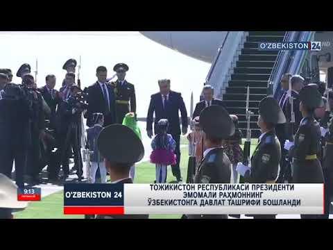 Mirziyoyev Tojikiston Prezidentini shaxsan o'zi kutib oldi