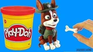 Paw Patrol Tracker Stop Motion - Claymation Videos For Kids