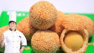 Cách làm bánh cam mè giòn rụm tại nhà - Nấu Ăn Ngon