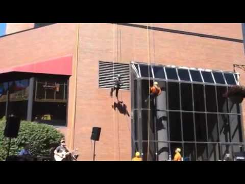 Lena Chen goes OVER THE EDGE! To Help Fund Special Olympics- NY