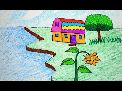 how-to-draw-house-coloring-pages-|-drawing-for-children-learning-colors-for-toddlers