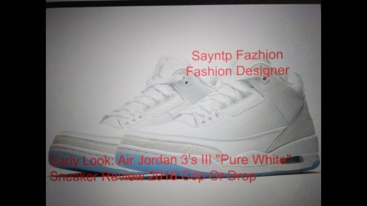 ad802260b6f603 Must⌚Early Look  Air Jordan 3 s III