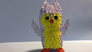 Модульное оригами для начинающих сова (филин) схема сборки (пошаговая инструкция)