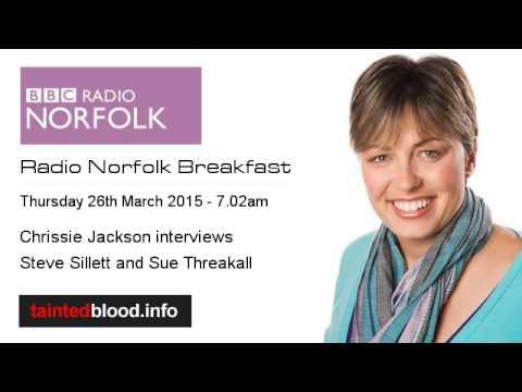 BBC Radio Norfolk - Steve Sillett & Sue Threakall - 26th March 2015