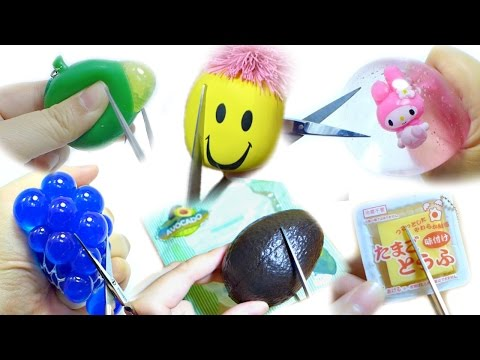 Squishy Toys Cutting : Cutting Open Squishy Squeeze Toy Compilation [No Music] Doovi
