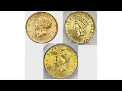 The History Of The United States One Dollar Gold Coins 1849-1889