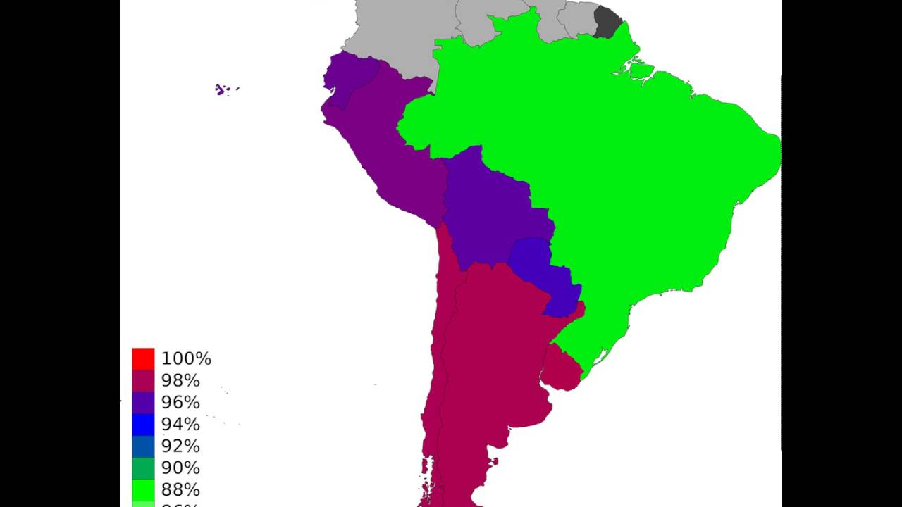 South America - Youth Literacy Rate, Population 15-24 Years, Male ...