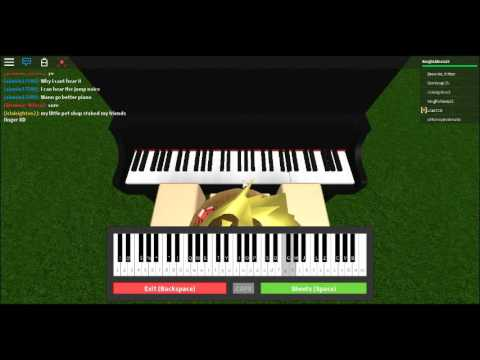 roblox piano music sheet 7 years