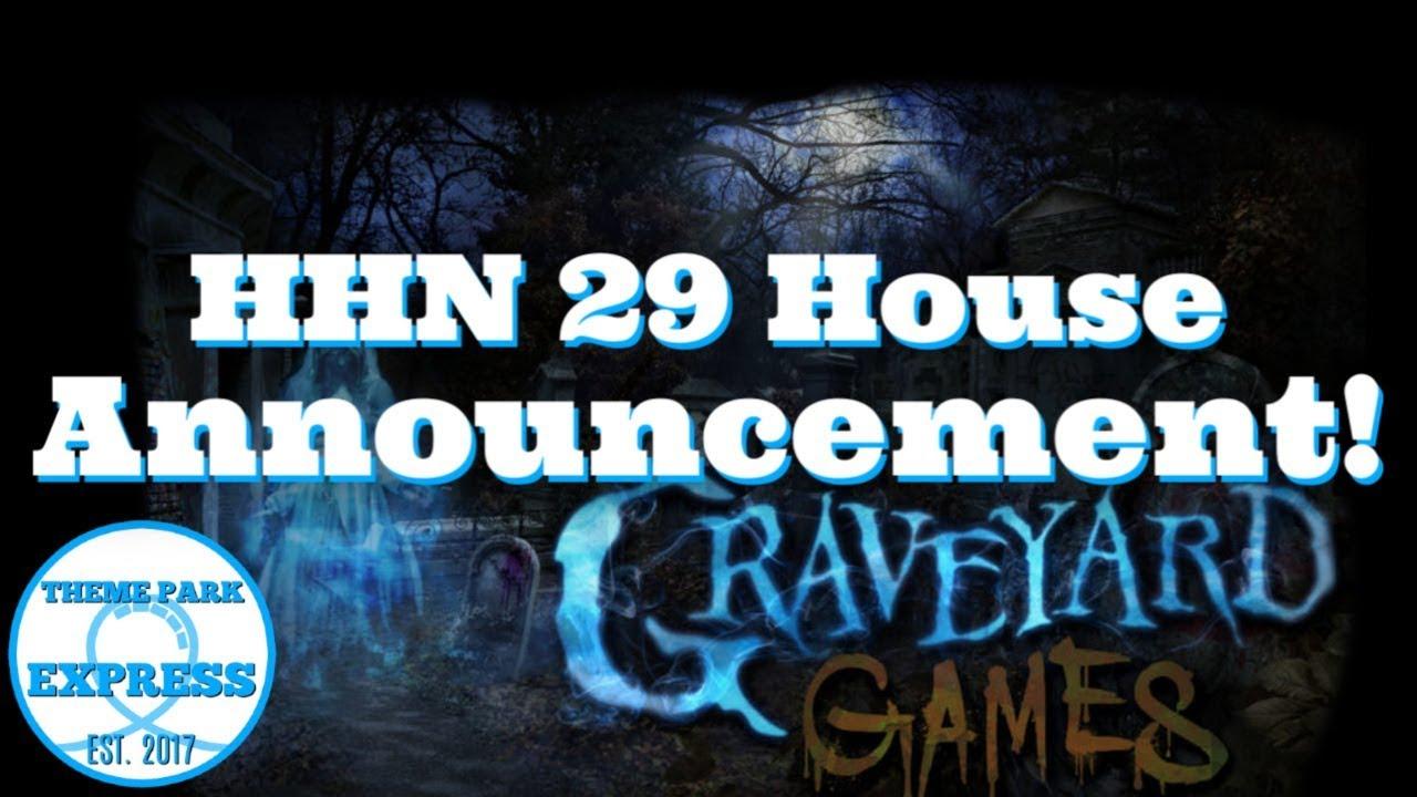 Graveyard Games Halloween Horror Nights 2019 Original Haunted House Maze Announcement Youtube