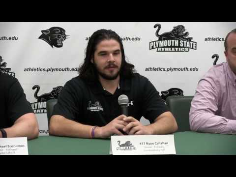 Plymouth State Mens Ice Hockey Preseason Press Conference