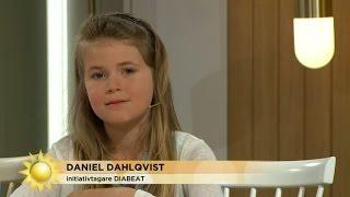 Moa, 8 år, kämpar mot diabetes - Nyhetsmorgon (TV4)