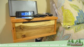 Rustic Modern Design A Simple Floating Bedside Table