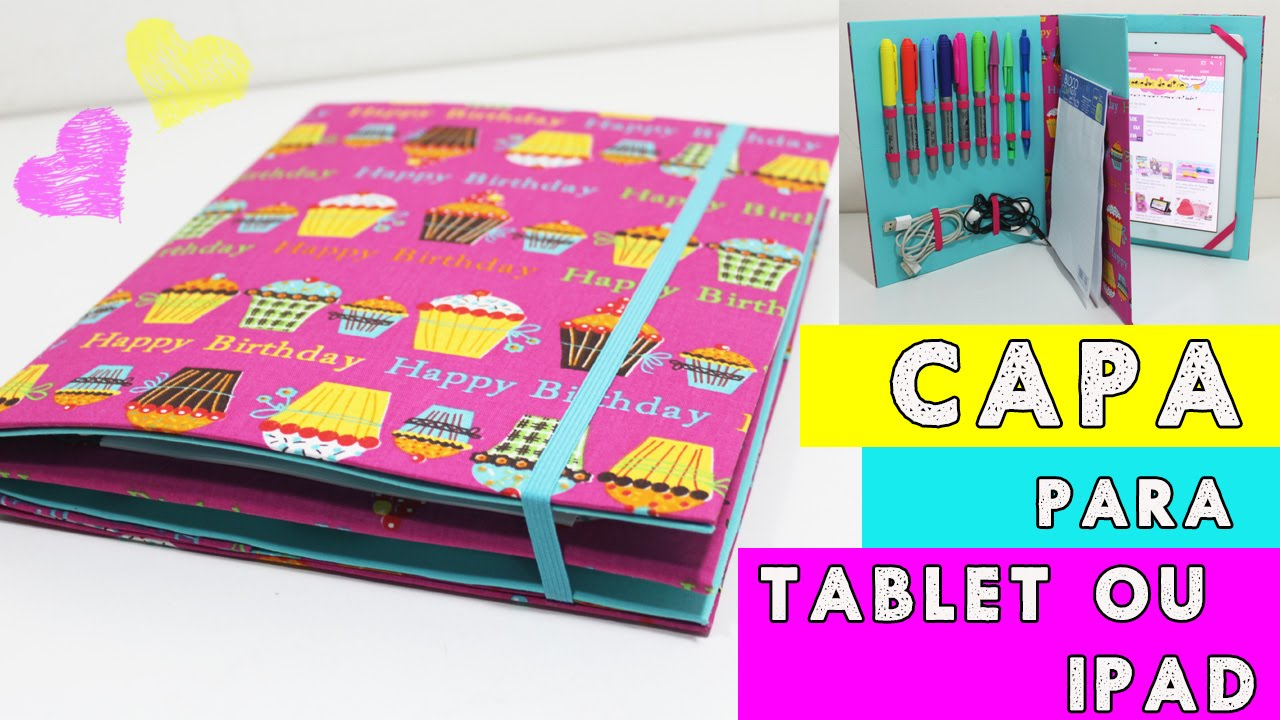 bfe6cdbc9a33 Capinha para Tablet ou Ipad - DIY - Segredos de Aline - YouTube