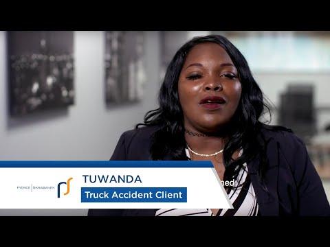 Truck Accident Attorneys Pierce Skrabanek   Truck Accident Survivor Tuwanda