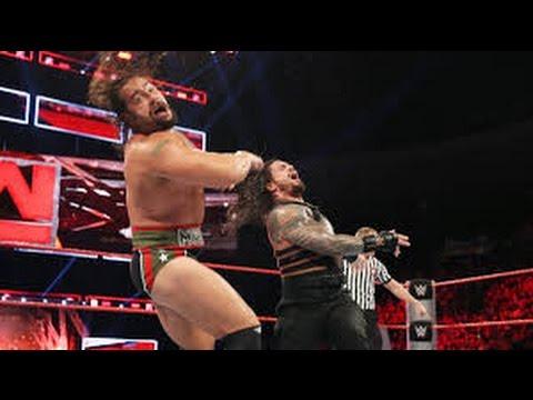 Roman Reigns fight US Champion Rusev wwwe fight