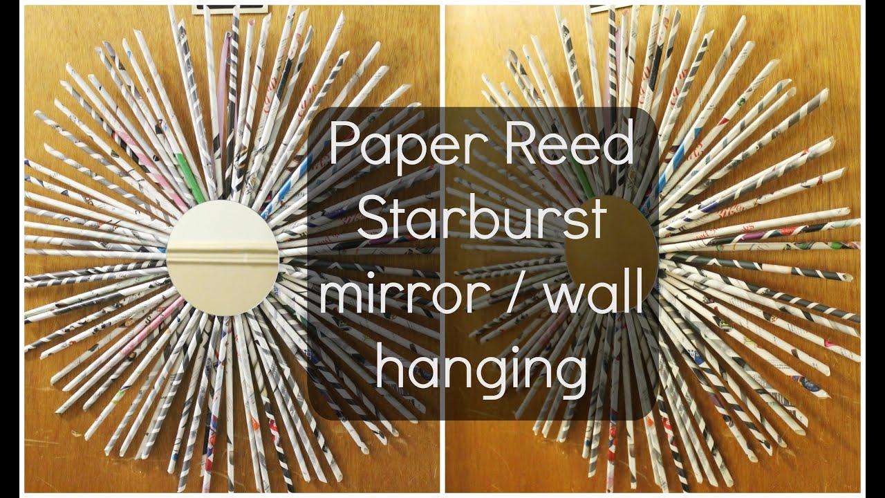 DIY Paper Reed Starburst WreathWall hanging Jessica