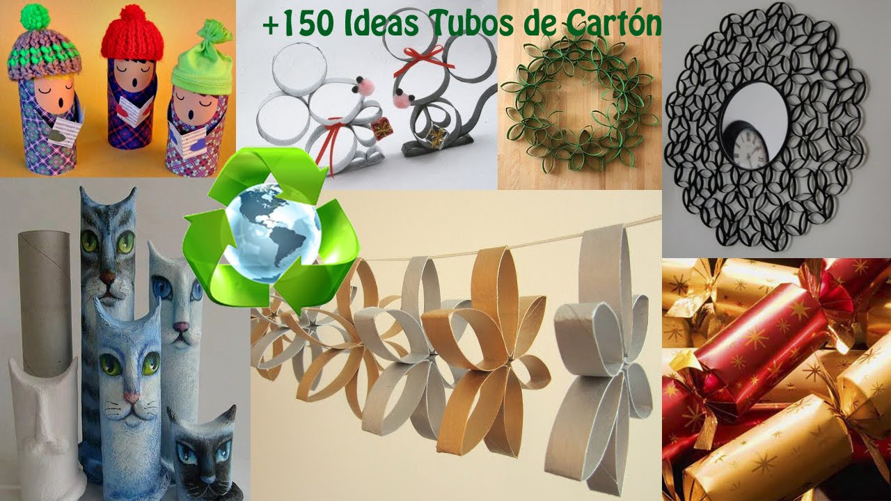 Ideas con tubos de cart n reciclados recycling cardboard - Tubos de carton decorados ...