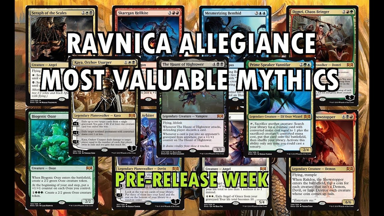 ravnica allegiance mythic edition value