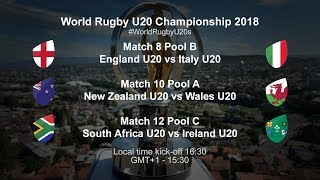 Live: World Rugby U20 Championship - South Africa U20 VS Ireland U20