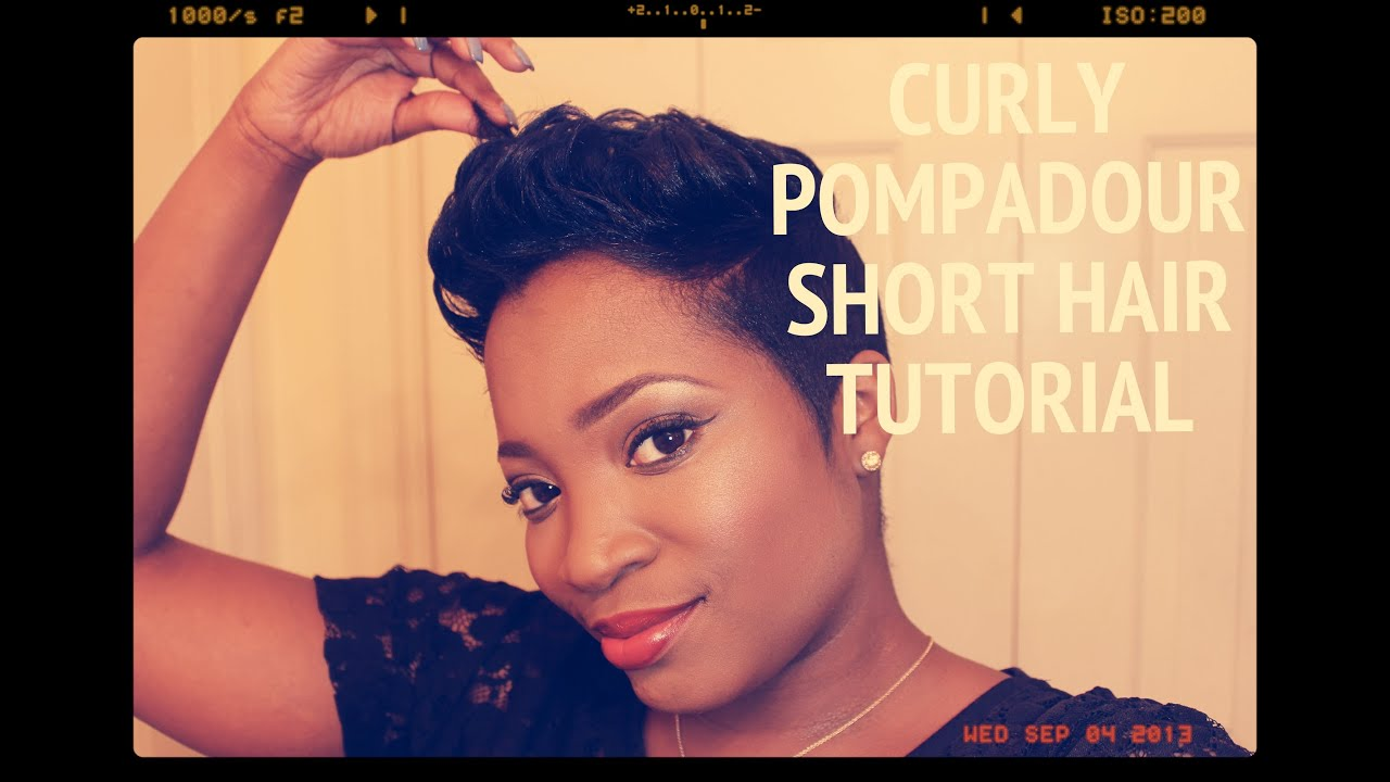 Bruno Mars Inspired Curly Pompadour Short Hair Tutorial