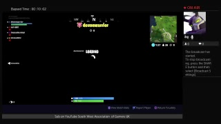 Fortnite Squads PS4 Broadcast GAME ON!
