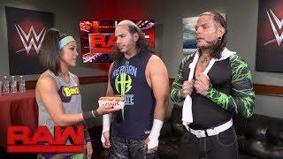 Bayley celebrates the return of Sonic Pretzel Dogs with The Hardy Boyz: Raw, July 24, 2017