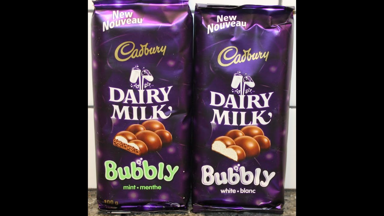 From Canada Cadbury Dairy Milk Bubbly Mint Amp White