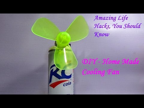 DIY - How To Make Homemade Cooling Fan Using A RC Cane (Very Simple)