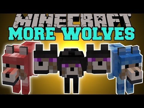 Thumbnail: Minecraft: MORE WOLVES (12 DIFFERENT TYPES OF PET WOLVES) Mod Showcase