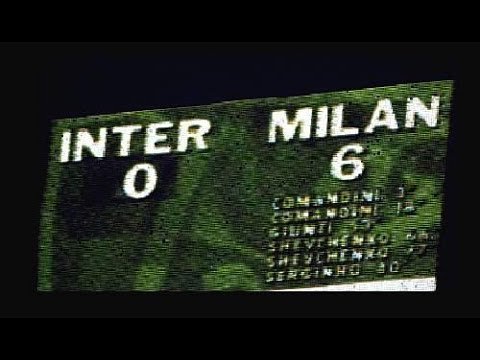 The famous match -Ac Milan vs Inter Milan (6-0) 2001 HD