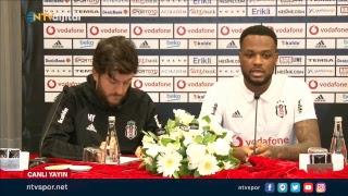 Beşiktaş'ın genç golcüsü Cyle Larin basın toplantısı düzenliyor. (CANLI)