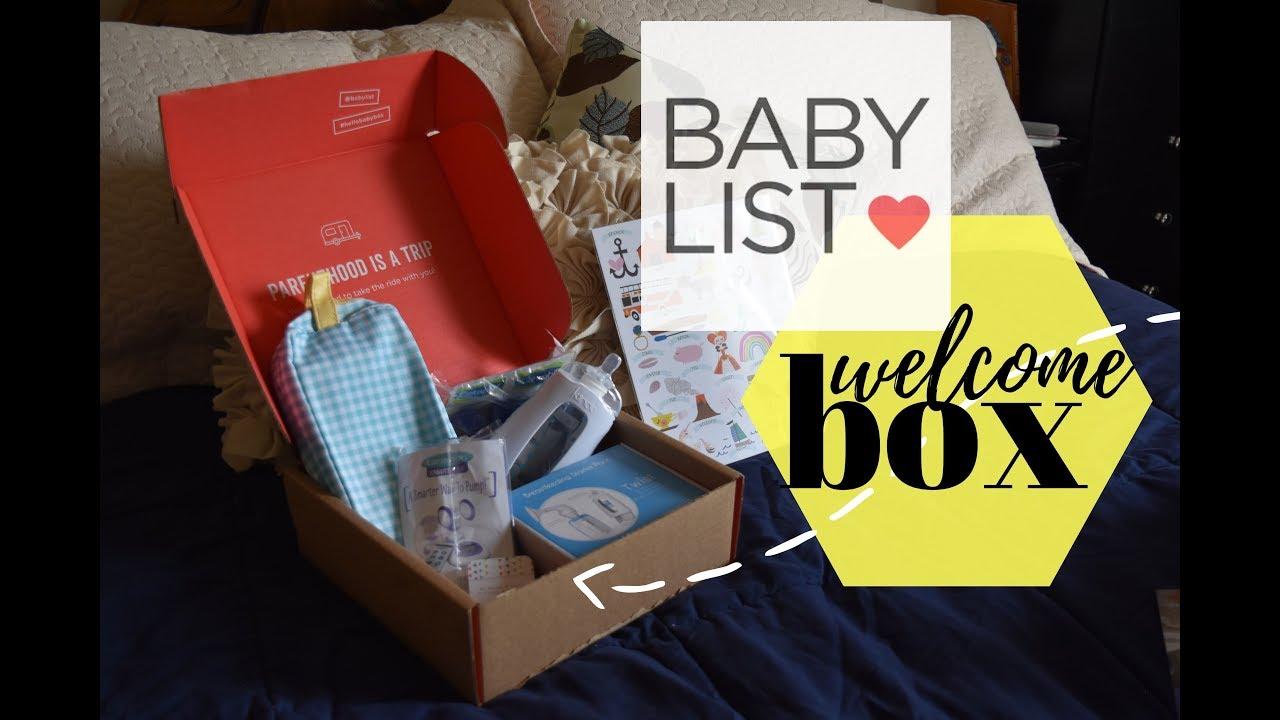 BABYLIST Hello Baby Welcome Box UNBOXING! - YouTube