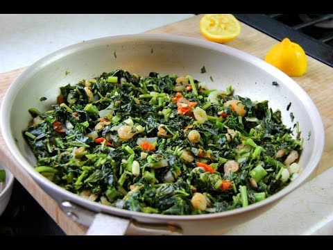 Jamaican Callaloo With Shrimp Recipe.