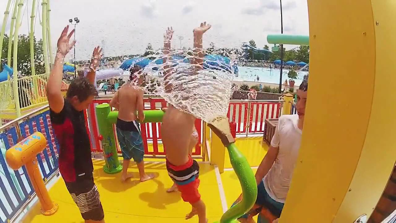 Splash & Play at Typhoon Tower - Coney Island Waterpark & Amusement Park